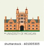 university of michigan icon.... | Shutterstock .eps vector #601005305