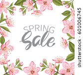 advertisement about the spring...   Shutterstock .eps vector #601006745