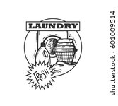 clean laundry icon. laundry... | Shutterstock .eps vector #601009514