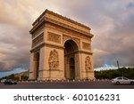 arc de triomphe in paris arch... | Shutterstock . vector #601016231