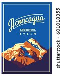 aconcagua in andes  argentina... | Shutterstock .eps vector #601018355
