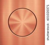 bronze metal abstract... | Shutterstock .eps vector #601020371