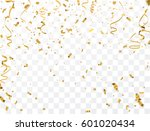 gold confetti celebration. | Shutterstock .eps vector #601020434