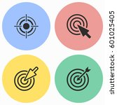 target vector icons set.... | Shutterstock .eps vector #601025405