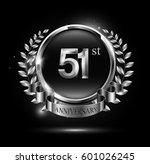 51st silver anniversary... | Shutterstock .eps vector #601026245