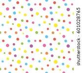 colorful confetti pattern.... | Shutterstock . vector #601028765