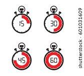 stopwatch timer set   Shutterstock .eps vector #601031609