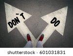 do versus don t written on the... | Shutterstock . vector #601031831