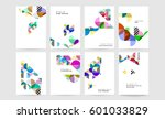memphis geometric background... | Shutterstock .eps vector #601033829