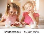 Girls Eat Breakfast On The...