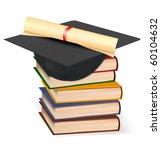 graduation cap and diploma...   Shutterstock .eps vector #60104632