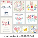 happy easter templates with... | Shutterstock .eps vector #601053044