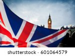 british union jack flag and big ... | Shutterstock . vector #601064579