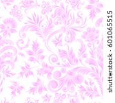 doodle paisley seamless pattern.... | Shutterstock .eps vector #601065515