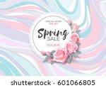 spring sale vector banner... | Shutterstock .eps vector #601066805