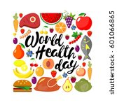 world health day concept.... | Shutterstock .eps vector #601066865