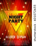 night party flyer template.... | Shutterstock .eps vector #601072655