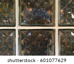 the surface of the glass block... | Shutterstock . vector #601077629