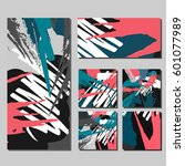 set of creative universal art...   Shutterstock .eps vector #601077989