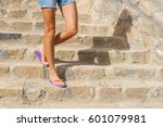 perfect female legs in summer... | Shutterstock . vector #601079981