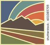 square logotype of landscape...   Shutterstock .eps vector #601085705