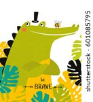 "poster ""be brave."" a cartoon... 