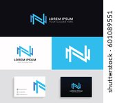 letter n logo icon company sign