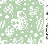 seamless raster pattern with... | Shutterstock . vector #601098179
