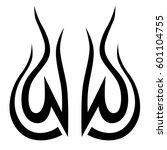 vector tribal tattoo designs.... | Shutterstock .eps vector #601104755