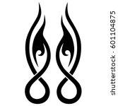 vector tribal tattoo designs.... | Shutterstock .eps vector #601104875
