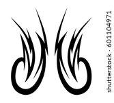 vector tribal tattoo designs.... | Shutterstock .eps vector #601104971