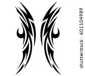 tribal tattoo art designs.... | Shutterstock .eps vector #601104989