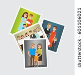 happy family portraits set.... | Shutterstock .eps vector #601106021