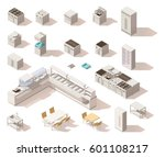 vector isometric low poly... | Shutterstock .eps vector #601108217