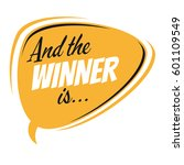 and the winner is retro speech... | Shutterstock .eps vector #601109549