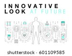trendy innovation systems... | Shutterstock .eps vector #601109585