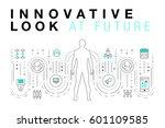 trendy innovation systems... | Shutterstock .eps vector #601109585