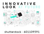 trendy innovation systems... | Shutterstock .eps vector #601109591