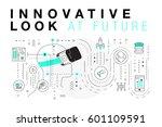 trendy innovation systems... | Shutterstock .eps vector #601109591