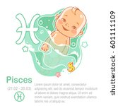 children's horoscope icon. kids ... | Shutterstock .eps vector #601111109