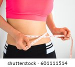 woman slim weight loss dieting... | Shutterstock . vector #601111514