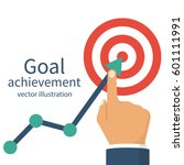 goal achievement. successful... | Shutterstock .eps vector #601111991