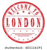 "rubber stamp ""welcome to london""... 