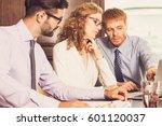 businessman discussing idea...   Shutterstock . vector #601120037
