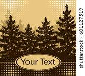 landscape  forest  spruce fir... | Shutterstock .eps vector #601127519