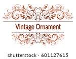 Vintage Calligraphic Ornament ...
