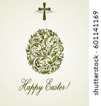 greeting easter card with... | Shutterstock .eps vector #601141169