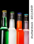 bottles with tasty drink - stock photo