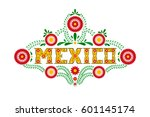 mexico typography party or... | Shutterstock .eps vector #601145174