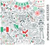 cinco de mayo celebration... | Shutterstock .eps vector #601153205